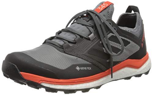 adidas Mens Terrex Agravic XT GTX Trail Running Shoe, Grey/Core Black/Active Orange, 43 1/3 EU