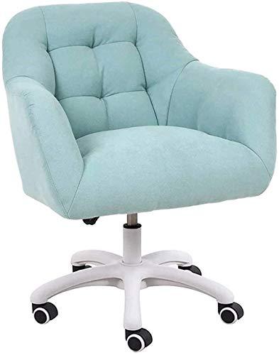Sedia da ufficio Ergonomico Desk Chair Sedia Esecutivo Sedia per computer per home Office Reception Sedia regolabile a 360 ° Sedia reclinabile (Color : Green)