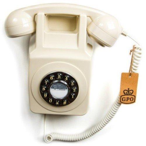 GPO 746 Teléfono fijo retro de pared con pulsación de boto