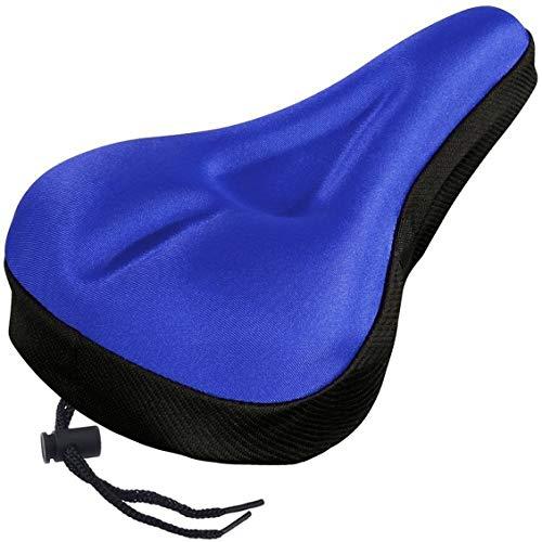 Funda para asiento de bicicleta de montaña Extra Comfort Ultra suave engrosado Asiento de sillín de ciclismo Cojín de bicicleta 3D Accesorios para bicicleta - Azul