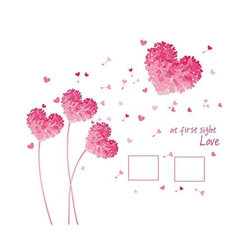 Ruiting Amor a Primera Vista Etiqueta de la Pared de Papel de Pared decoración casera Creativa Rosa extraíble corazón de la Flor Tatuaje de Pared