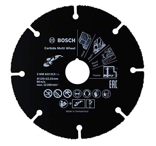 Bosch Professional 2608623013 Disco multimaterial de carburo para amoladora (125 mm)