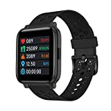 FEICE Smart Watch, Fitness Tracker, TFT LCD Screen Smartwatch with Heart Rate and Sleep Monitor, IP67 Waterproof Activity Tracker with Pedometer, for Android and iOS (Black)