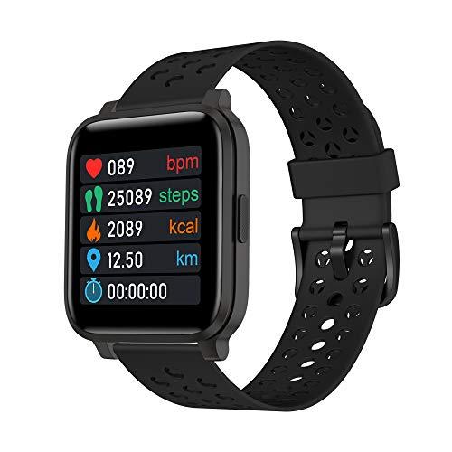 Smartwatch Fitness Armband Fitness Tracker Touch-Farbdisplay Wasserdicht IP68 Pulsuhren Fitnessuhr Bluetooth Sportuhr Schrittzähler für Android iOS für Damen Herren