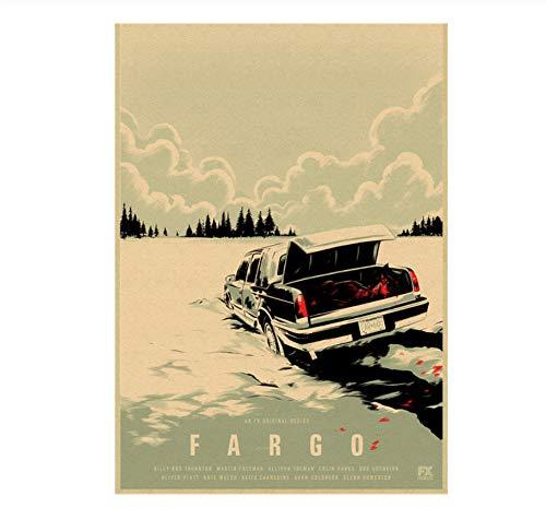 YOUCAIHUA Fargo Kraftpapier Poster Film Wandaufkleber Home Decoration Wohnzimmer Schlafzimmer Bar Home Art 42 * 30cm