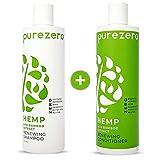 Purezero Hemp & Bamboo Shampoo & Conditioner Set - Hair Renewing Therapy - Increase Moisture &...