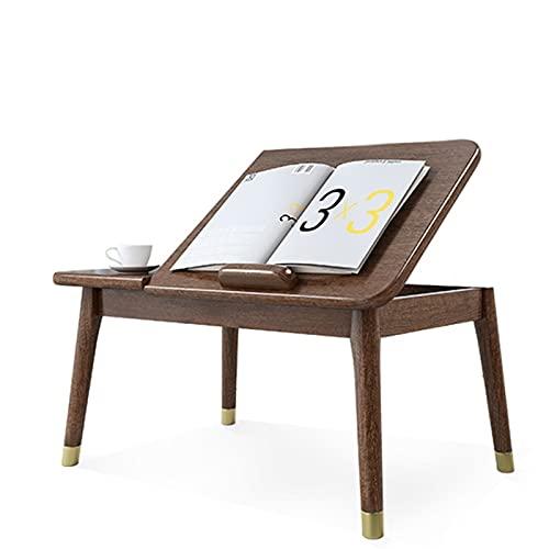 Escritorio de computadora Doble laptop STOCK STOP MESA TABLE Tabla de escritorio ajustable Cuaderno de madera sólido Sofá Escritorio de computadora Estudio plegable Estudio de la escritura de la tabla