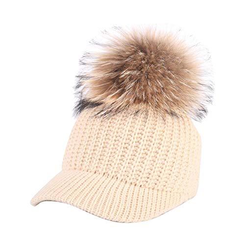 BHYDRY Crochet Invierno Gorro Punto Caliente Cozy