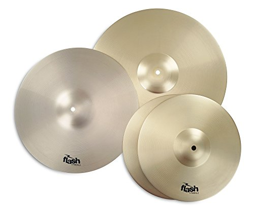 Flash Impact Series 368 Schlagzeug Becken Set (Drum Cymbals, 13