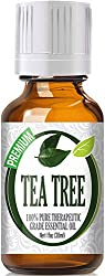 Healing Solutions Tea Tree 100% Pure Best Therapeutic Grade Essential Oil