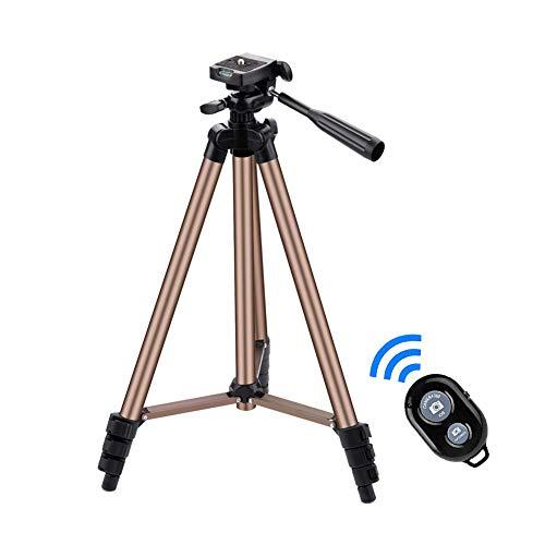 VGROUND Treppiede Smartphone, 125cm Alluminio Treppiede Portatile e Leggero per Fotocamera con Otturatore a Distanza Bluetooth, Supporto Telefono e Borsa da Trasporto per Smartphone, Fotocamera, Gopro