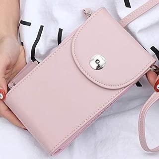 Fashion Single-Shoulder Bags Women Handbags Mini Cell Phone Bags Simple Small Crossbody Bags Casual Ladies Flap Shoulder Bag(Black) (Color : Pink)