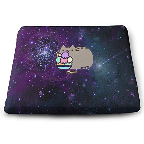 ADGoods Quadratisches Sitzkissen Square Seat Cushions Space Cats On Pinterest Premium Comfort Memory Foam Kitchen Chairs Pad for Office,Kitchen,Travel,Car