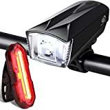 Techole Bike Light Set, Rechargeable Bicycle Lights with 300LM Waterproof Front Headlight