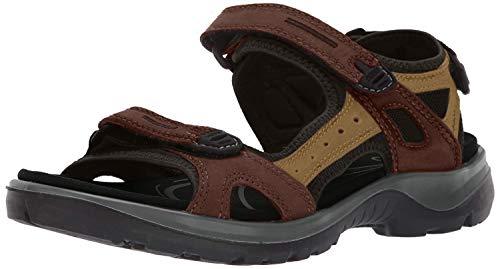 ECCO Women's Yucatan Sport Sandal, Bison/Mineral/Black, 10-10.5
