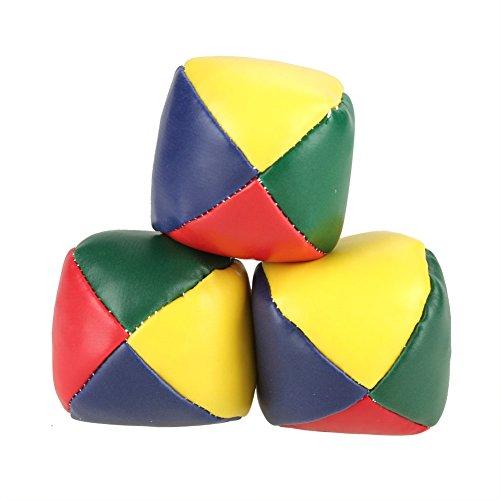 Tbest Pelotas de Malabares, Pelota de Aprendizaje de Malabares, 3 Piezas/Set de Bolas de Juguete para niños