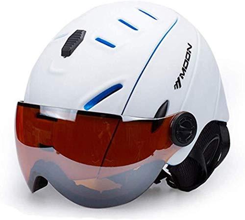 Skihelm, zonnebescherming, afneembare sneeuwas, anti-condens en volledige uv-bril ter bescherming van volwassenen, lichte en vrouwen. 001-M