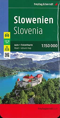 Slowenien, Autokarte 1:150.000, Top 10 Tips (freytag & berndt Auto + Freizeitkarten)