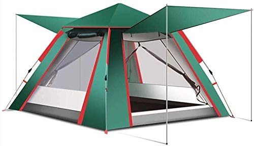 LAZ 5-8 Double Tent Tent Breathable Waterproof UV Automatically Opened for Family Camping Tents,Suitable for Camping ,Reinforced Bracket Camping Thickened Tent