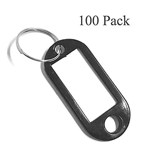 Sleutelhangers, 100 stuks Sleutelhangers Sleuteletiketten Plastic Sleutelhangers Id Tags Sleutelhangers Naam Tags Bagage Id Etiketten met Etiketten Split Ring Sleutelhanger()