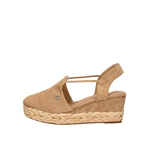 Wrangler - frau brava sandal mit keil im seil - 38 - naturale