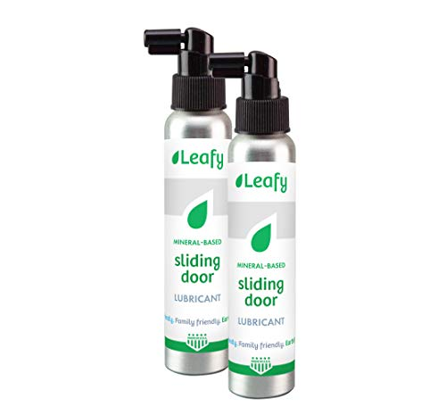 Leafy Sliding Door Lubricant - 4oz 2-Pack, Mineral Based, Home Family Earth Friendly