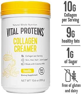 Vital Proteins Collagen Coffee Creamers - No Dairy, Low Sugar, Powdered (Vanilla)