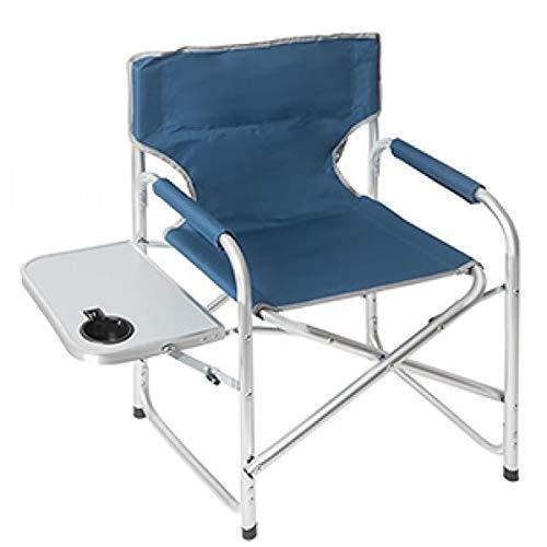 Summit Lightweight Directors Chair, Side Table Indigo Blue