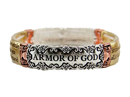 4030948 Ephesians 6:13 Armor of God Stretch Bracelet Stand Firm Against The Evil One Scripture Bible Verse