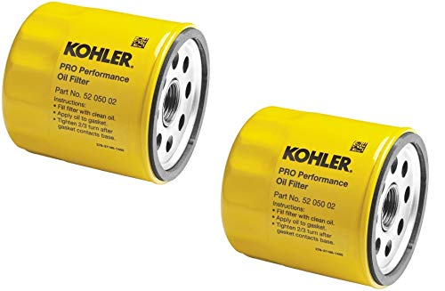 Kohler 52 050 02-S Engine Oil Filter Extra Capacity for CH11 - CH15, CV11 - CV22, M18 - M20, MV16 - MV20 and K582, 2 Pack