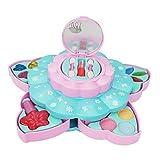 Ruby569y Juego de maquillaje de simulación,Juego de niñas de juguetes de fingir,Juguete lavable de simulación de juguete para niños y niñas de belleza Set de cosméticos caja de herramientas