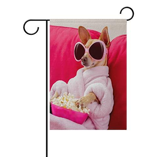 SUNOP Polyester Garden Drapeau Dog créer Funny Banner 30,5 x 45,7 cm pour extérieur Home Garden Pot de Fleurs Décor fête Maison Drapeau, Multicolore, 28x40(in)