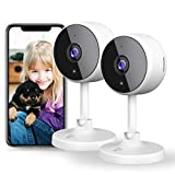 [New2021] WiFi Camera Littlelf Security Camera, 1080P Indoor Camera Baby Monitor with 2-Way Audio, Human Detection, Night Vision, 2PCS Home Surveillance Camera for Pet/Baby/Elder, Alexa Support