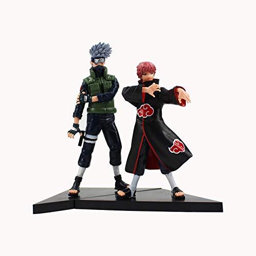CXNY 2pcs / Set 16 / 18cm Anime Naruto Shippuden Hatake Kakashi VS Sasori PVC Figuras de acción...
