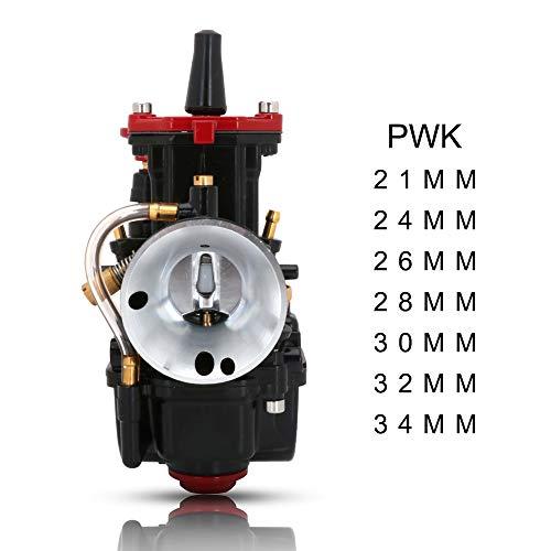 JFG RACING - Carburador para Motocicleta PWK 24 mm para Honda Yamaha Suzuki Kawasaki K.T.M 50 CC 65 CC 75 CC 80 CC 100 CC ATV Dirt Bike - Negro