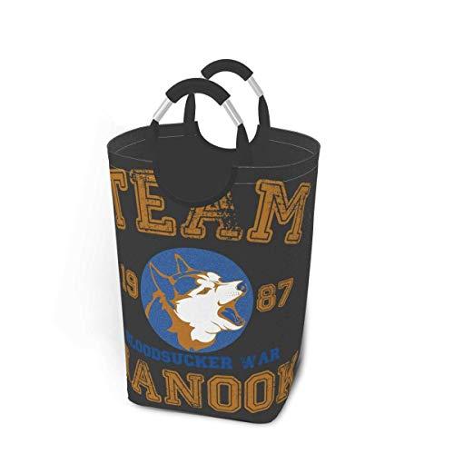 FFull-BAtttery-Shop 50 Litri di capacità di stoccaggio Team Nanook Lost Boys con Maniglie Cesti portabiancheria Oversize Pieghevoli