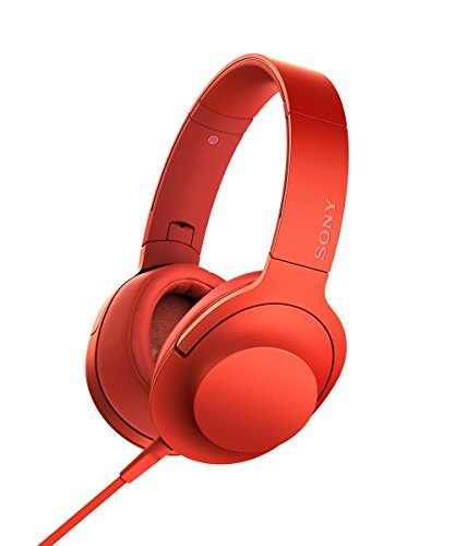 Sony hear on Premium Hi-Res Stereo Headphones (wired), Cinnabar Red