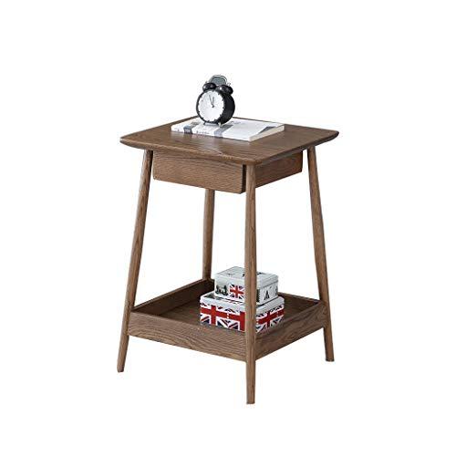 OMYLFQ Mesa de café American Oak Side Table Sofá Table Side Cabinet Mini Coffee Table Corner Mesa Cuadrada Sala de Estar Mesa Auxiliar Mesa de té ✅