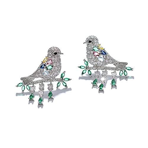 N\A Pendientes De Mujer, Pendientes De Pájaro Pendientes Pájaro Bañados En Oro Pendientes Pájaro De Plata De Ley 925 Regalos De Joyería De Animales para Niñas Y Mujeres. Regalos De Joyería Únicos