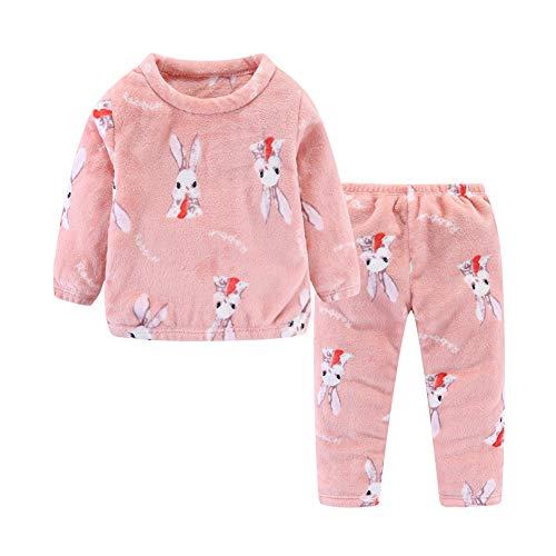 Mud Kingdom Schlafanzug für kleine Mädchen, Molton, Cartoon-Print Gr. 6 Jahre, Hase...