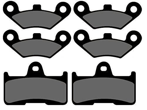 3x Bremsbeläge Ersatzteil für/kompatibel mit CF Moto CF800 2 C-Force vorne + hinten