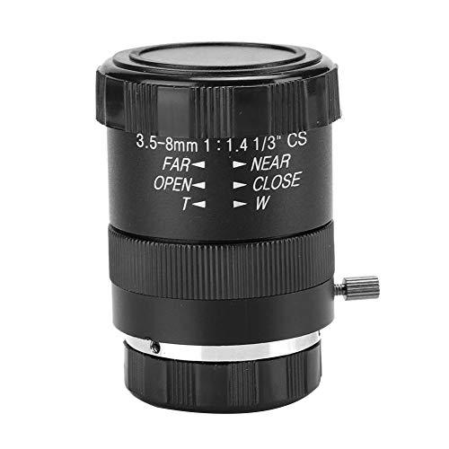 BTIHCEUOT Kamera-Objektiv mit manueller Blende, 3,5-8 mm 720P Aluminiumlegierung CS-Mount F1.4 CCTV-Ersatz für Überwachungssystem