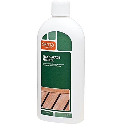 Deuba Holz Pflegeöl Teak & Akazienholz 500ml Für Außen & Innen Pflege Öl Hartholzöl Lasur Schutz Akazie Gartenmöbel Möbel