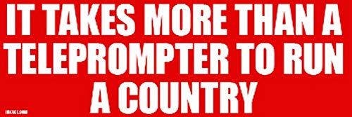 PotteLove Het kost meer dan een Teleprompter om een land Vinyl Sticker Decoratief voor Laptop Koelkast Gitaar Auto Motorhelm Bagage Cases Decor 10 Inch in Breedte