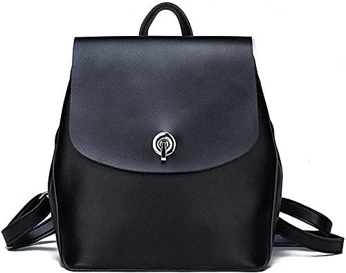 Backpack womens backpack pu leather shoulder bag travel fashion casual digital backpack black