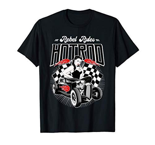 Camisetas Rockabilly Hombre Mujer Rockera Coches Clásicos Camiseta