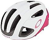 Oakley Aro3 - Casco de ciclismo para hombre, color blanco, rojo, tamaño medium