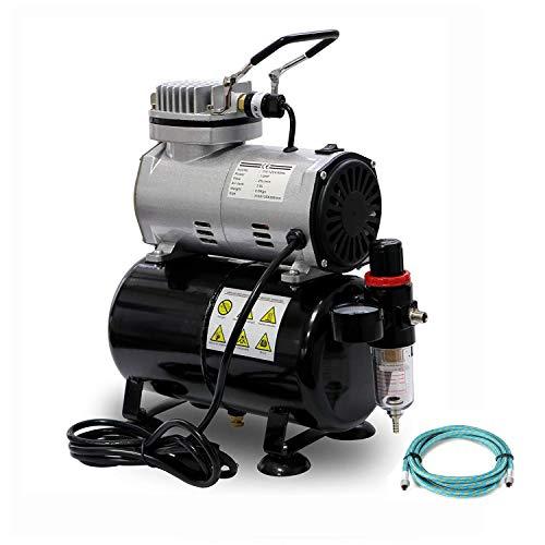 ミニエアーコンプレッサー 3Lタンク付き オイルレス エアコンプレッサ 静音