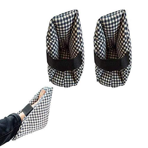 XGG Almohada Protectora del cojín del talón - Dolor de presión y Alivio de la úlcera del talón Ideal para pies hinchados, Almohadas Confort para los pies con protección para el talón 1 par (25X25 cm)