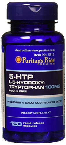 Puritans Pride 5-htp 100 Mg (griffonia Simplicifolia) Capsules, 120 Count